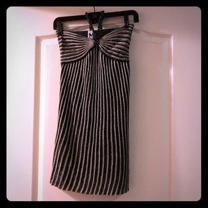 M Missoni sparkle stripe mini dress